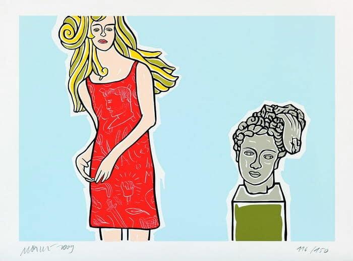 Moritz Götze | Mädchen mit antikem Kopf
