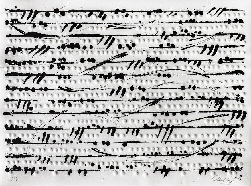 Günther Uecker | Optische Partitur I 2014