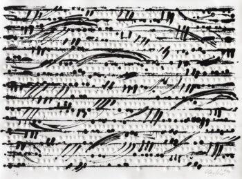 Günther Uecker | Optische Partitur III 2014