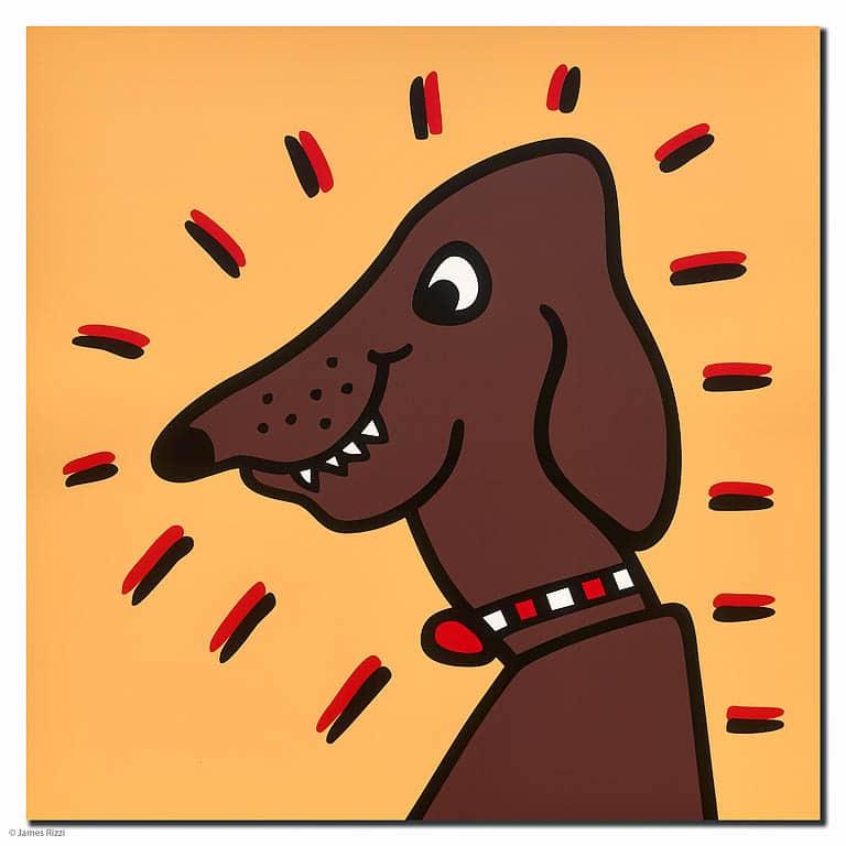 James rizzi Icon Dog