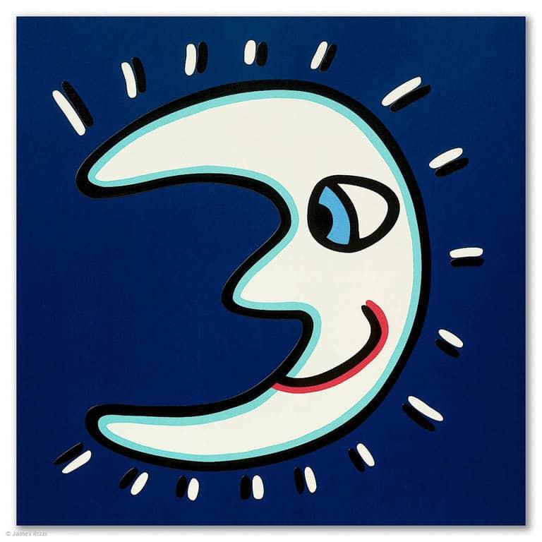 James Rizzi Icon Moon