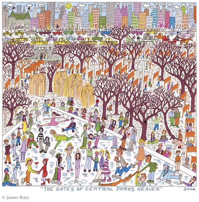 James Rizzi | The Gates of Central Parks Heaven