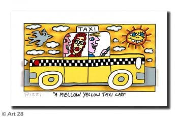 James Rizzi | A Mellow Yellow Taxi Cab