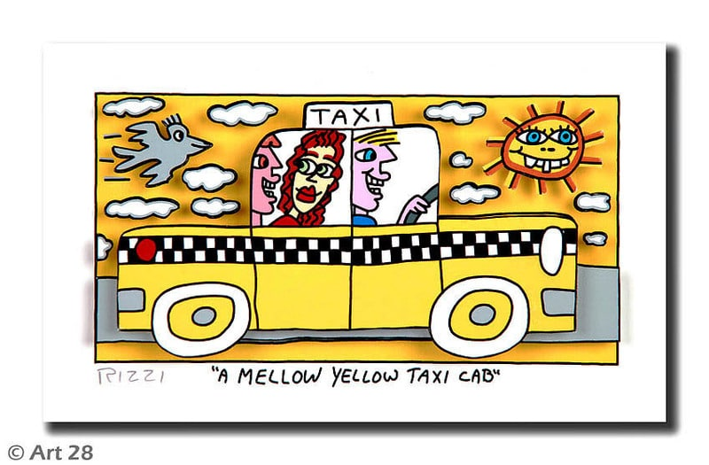 James Rizzi | A Mellow Yellow Taxi Cab