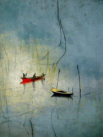 Antje Wichtrey | Das Meer fließt vorbei und dauert (Unikat)