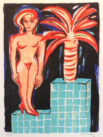 Elvira Bach | Frau mit Palme