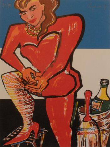 Elvira Bach | Rote Frau