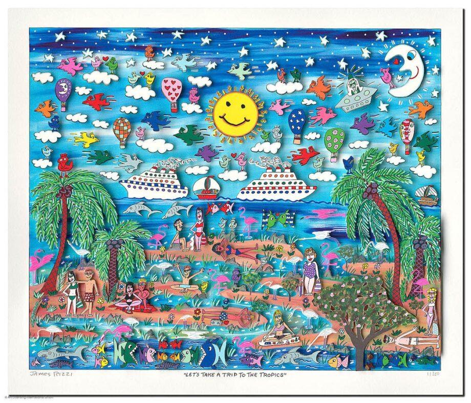 James Rizzi | Let's Take A Trip to the Tropics