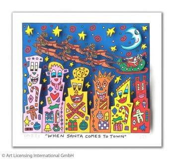 James Rizzi | When Santa Comes To Town