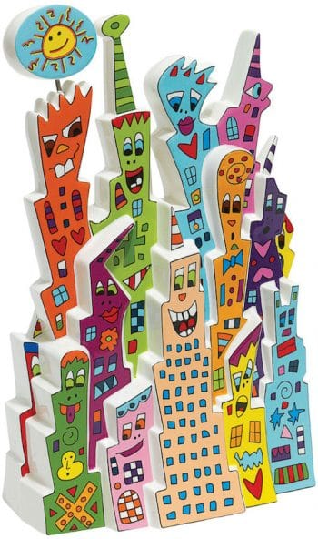 James Rizzi | Porzellanskulptur Day and Night