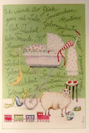 "Christina Thrän | Briefkarte ""Ich wünsche Dir Glück"""