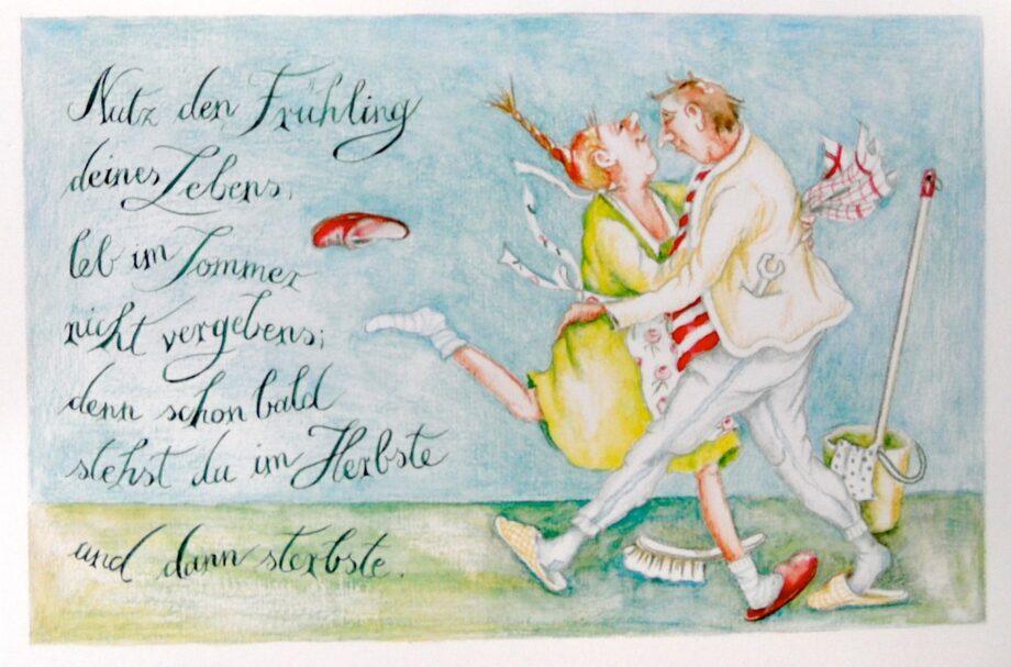 "Christina Thrän   Briefkarte ""Nutz den Frühling Deines Lebens"""
