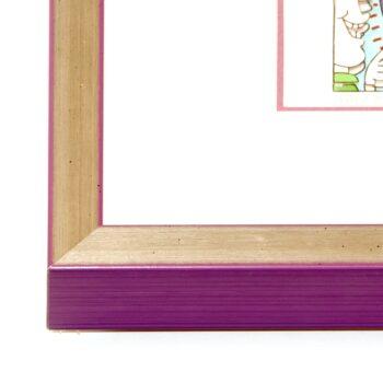 Holzrahmen silber/violett | 60 x 60 cm