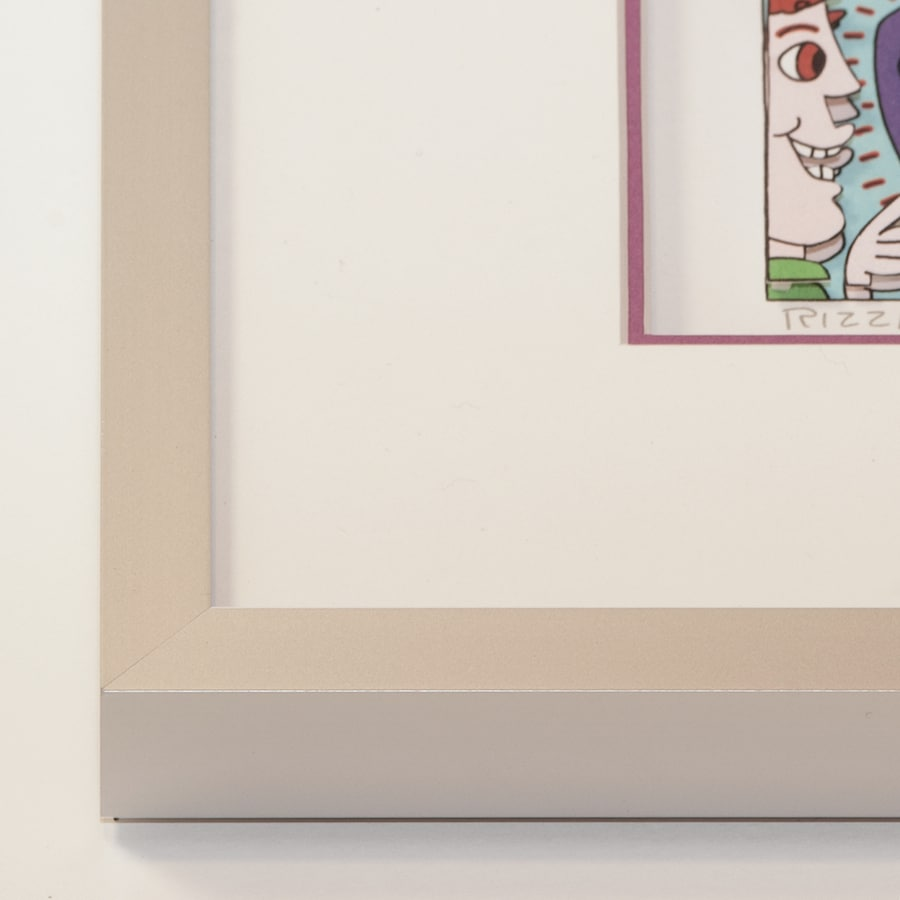 Alurahmen silbermatt | 40 x 90 cm
