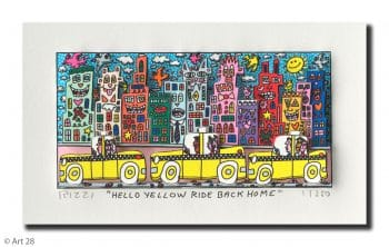 James Rizzi | Hello Yellow Ride Back Home