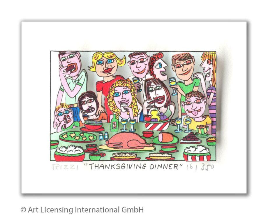 James Rizzi | Thanksgiviing Dinner