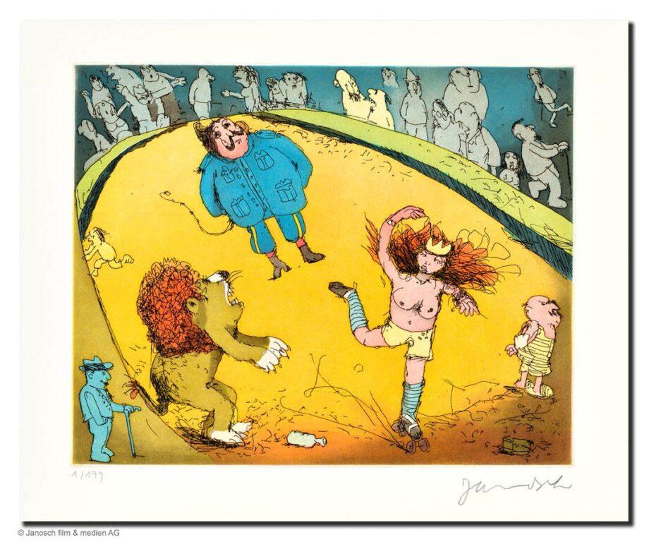 Janosch Der Löwe brüllt es tanzt Marie