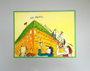 Udo Lindenberg | No Panik - Adlon. Originalaquarell, handsigniert
