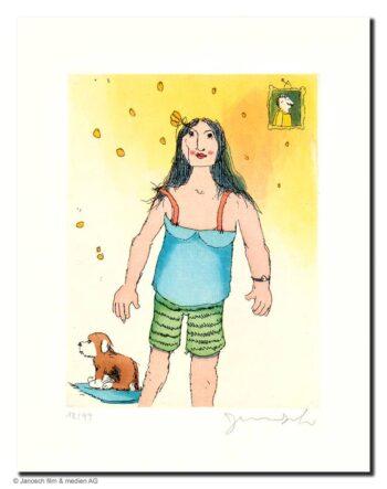 Janosch Frau mit Hund
