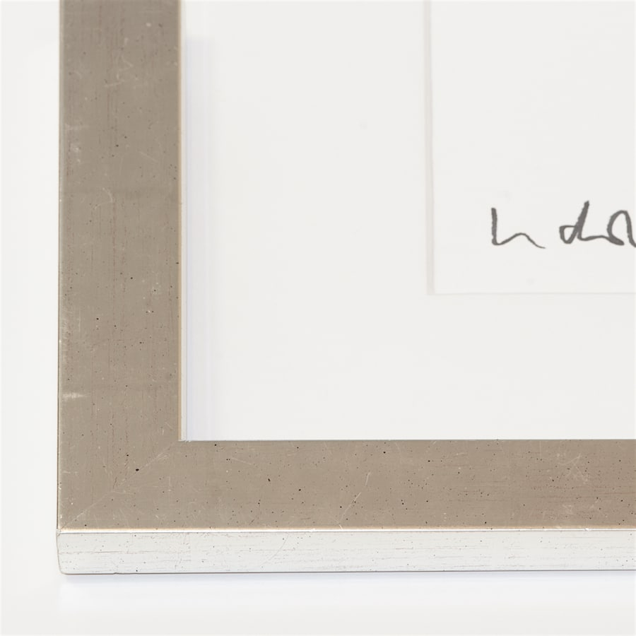 Silberner Holzrahmen | 73 x 61 cm