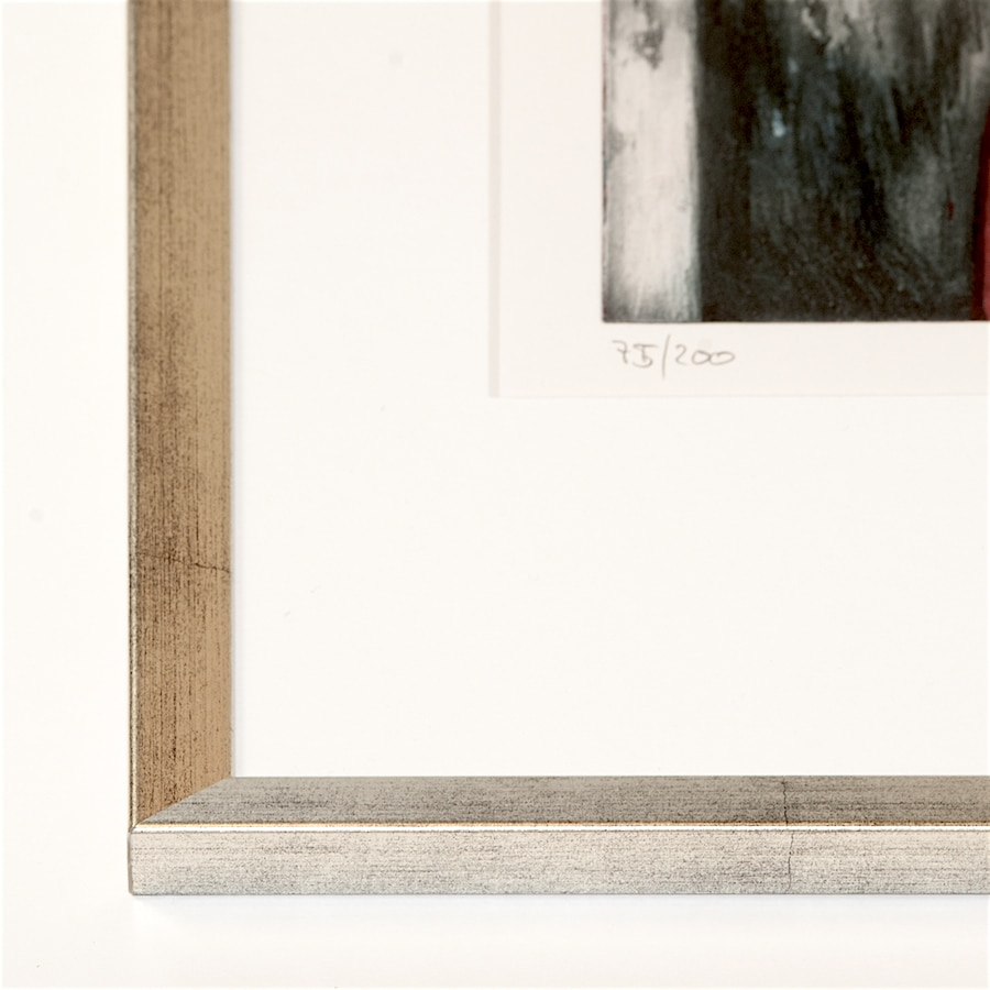 Silberner Holzrahmen   40 x 50 cm