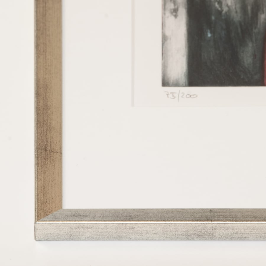 Silberner Holzrahmen (Holz 15 mm) | 32 x 42 cm