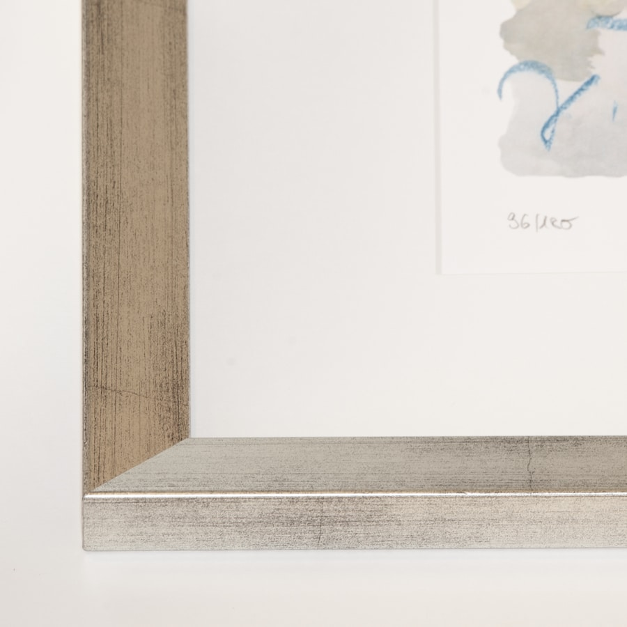 Silberner Holzrahmen (Holz 25 mm) | 44 x 54 cm
