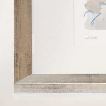 Silberner Holzrahmen (Holz 25 mm) | 54 x 64 cm