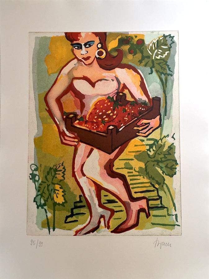 Elvira Bach   Die Gärtnerin