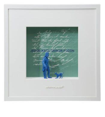 Ralf Birkelbach | Wortkunst | Jeder nach seiner Facon - Friedrich grün-blau
