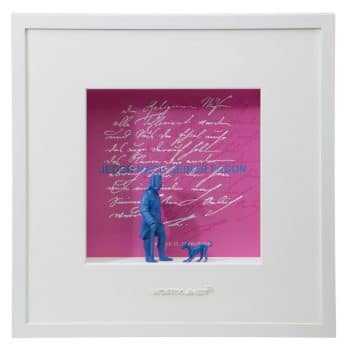 Ralf Birkelbach | Wortkunst | Jeder nach seiner Facon - Friedrich pink-blau