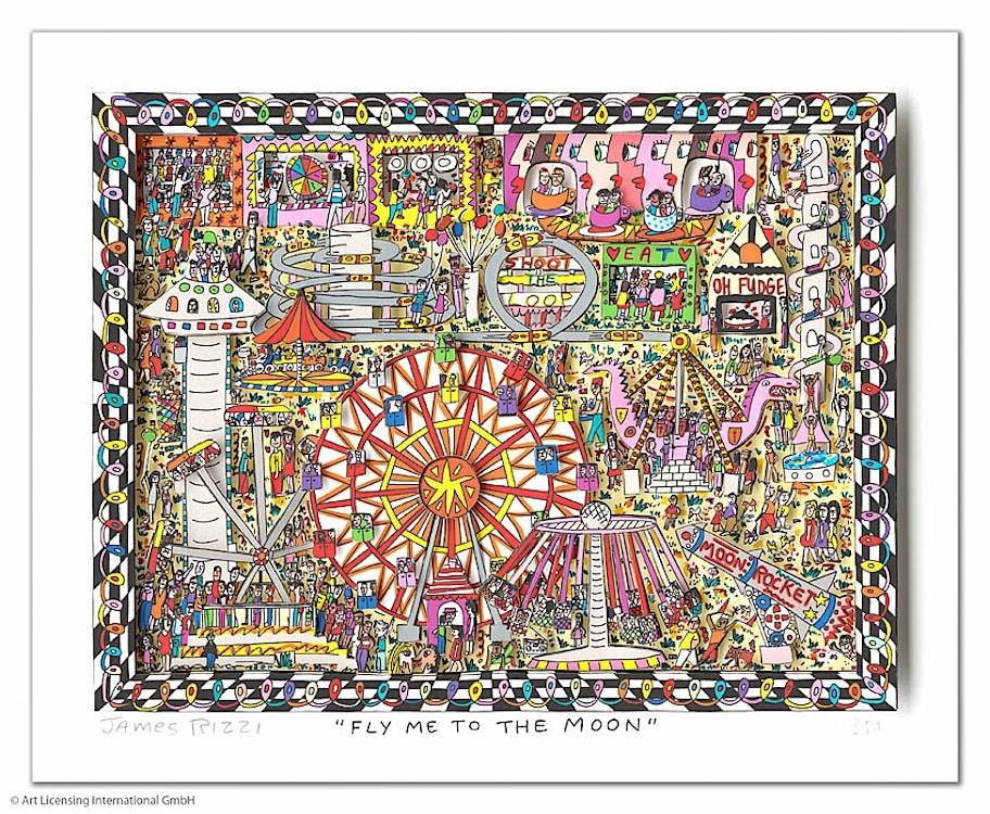 James Rizzi | Fly me to the moon
