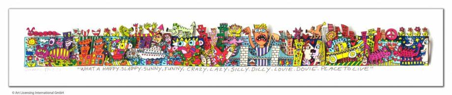 James Rizzi | What a happy, slappy, sunny, funny, crazy, lazy, silly, dilly, lovie, dovie, place to live