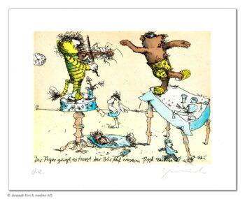 Janosch Der Tiger geigt es tanzt der Bär