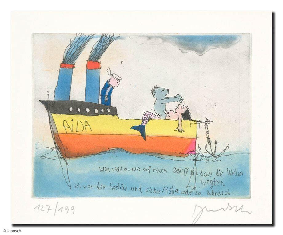 Janosch Wir liebten uns auf einem Schiff bis dass die
