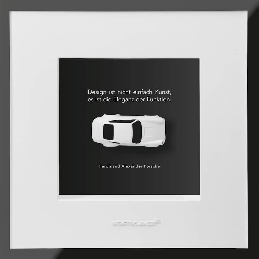 Ralf Birkelbach Wortkunst | Kunstobjekt Porsche