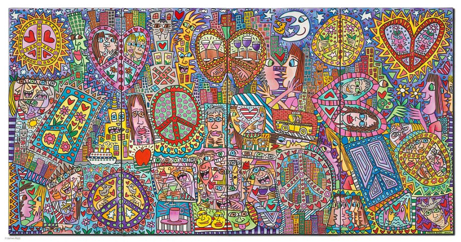 James Rizzi | Give Peace a Chance I-IV