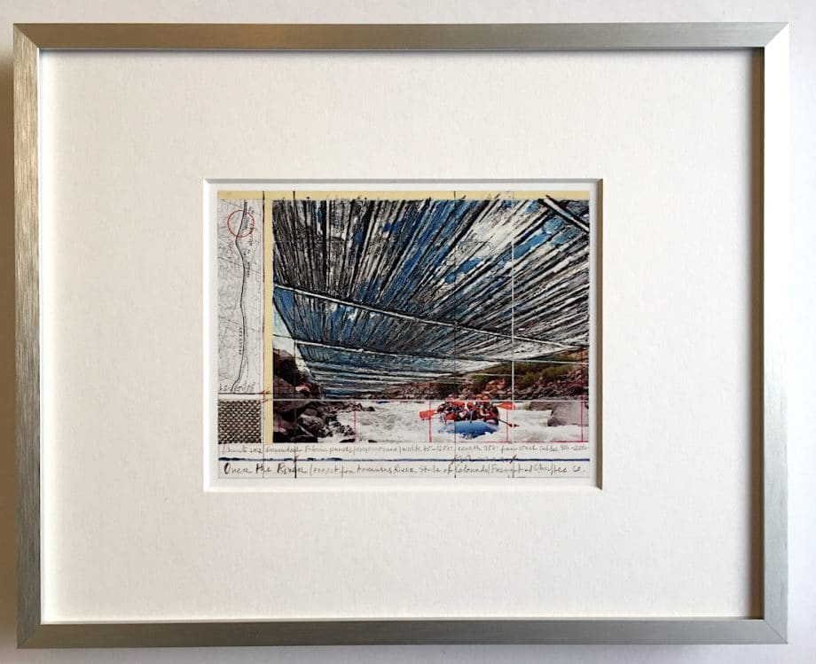 Christo | Over the River – gerahmter Miniprint 1