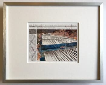 Christo | Over the River - gerahmter Miniprint 2