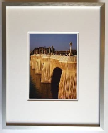 Christo Pont Neuf Wrapped - gerahmter Miniprint