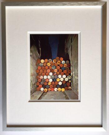 Christo | Rue Visconti Iron Curtain - gerahmter Miniprint