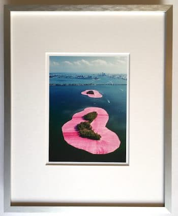 Christo | Surrounded Islands - gerahmter Miniprint