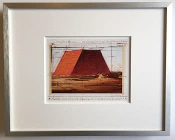 Christo The Mastaba - gerahmter Miniprint