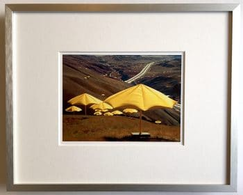 Christo | Umbrellas - gerahmter Miniprint 1