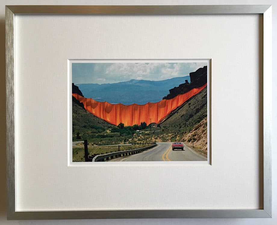 Christo Valley Curtain - gerahmter Miniprint