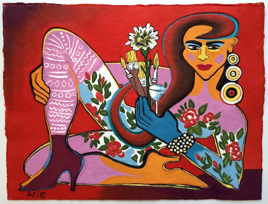 Elvira Bach | La vie en rose (Liegende 2016)