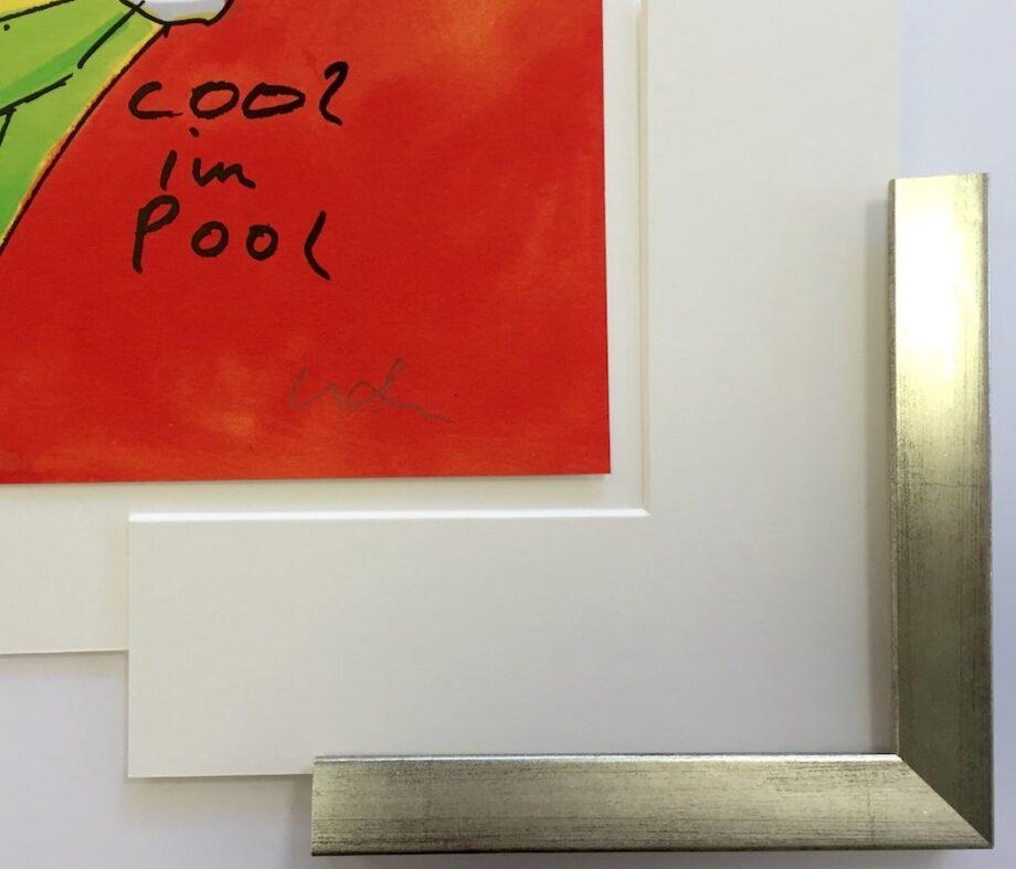 Silberner Holzrahmen (Holz 25 mm) | 63 x 77 cm