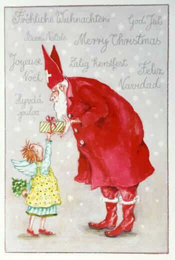 """Thrän: Weihnachtskarte """"Fröhliche Weihnachten in allen Sprachen"""""""