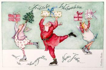 """Christina Thrän: Weihnachtskarte """"Schwungvolles Neues Jahr"""""""