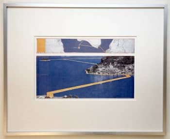 Christo | The Floating Piers - gerahmter Kunstdruck 1